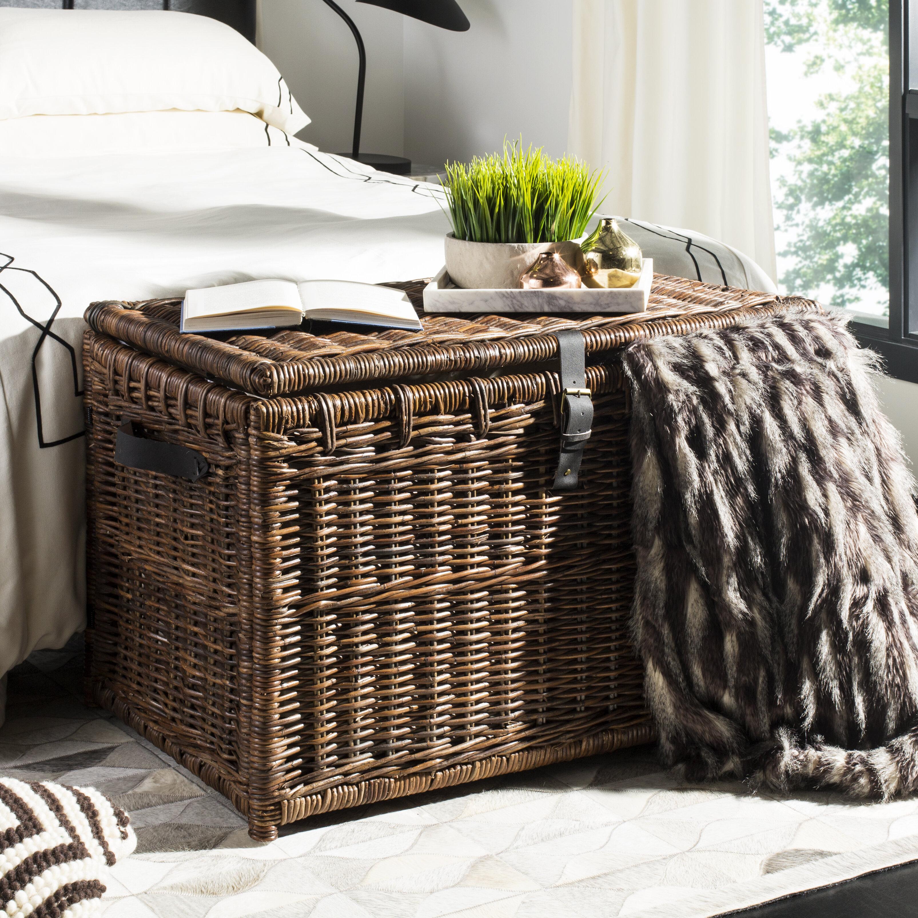 Delightful Highland Dunes Altamont Wicker Storage Trunk U0026 Reviews | Wayfair