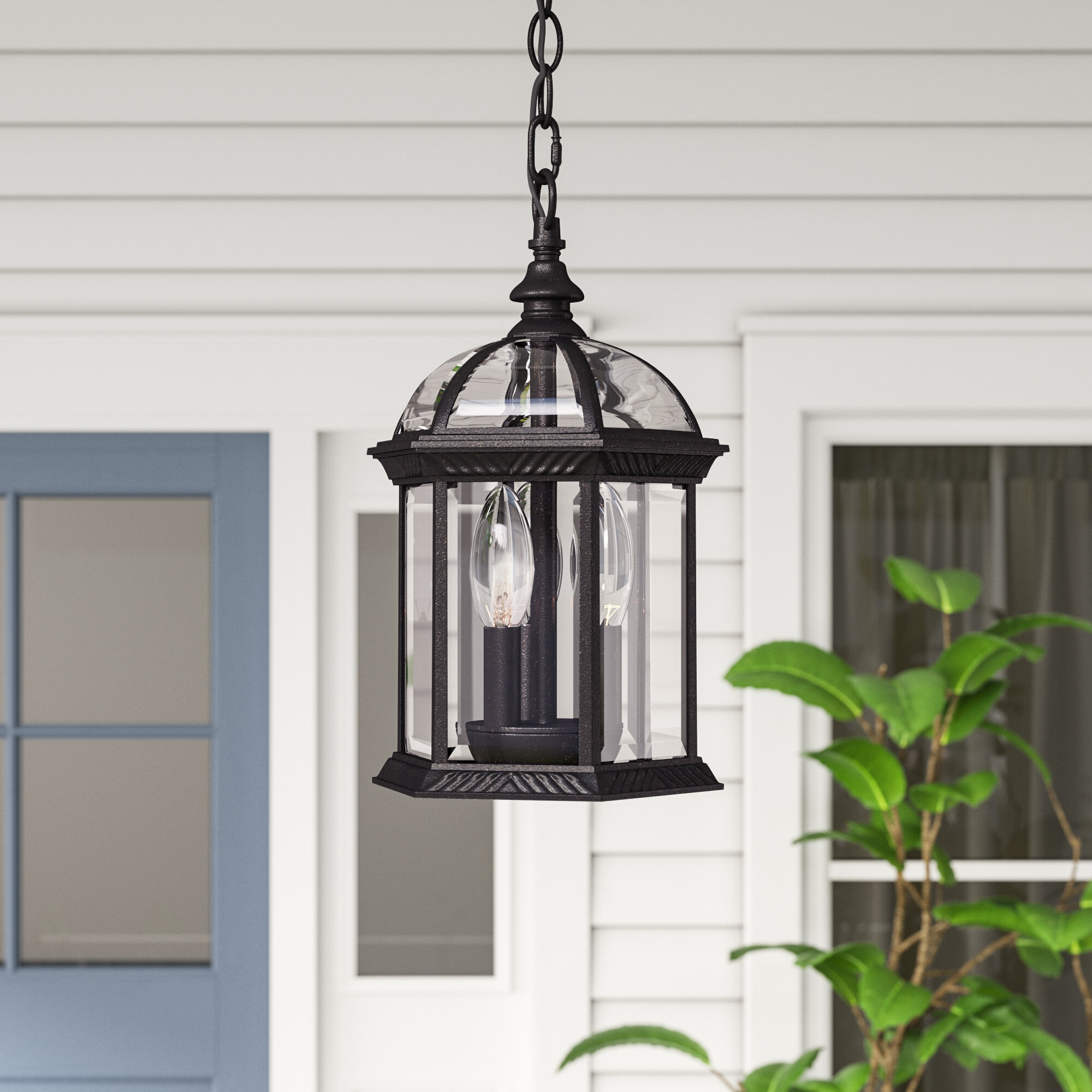 Three posts hartshorne 3 light outdoor hanging lantern reviews wayfair