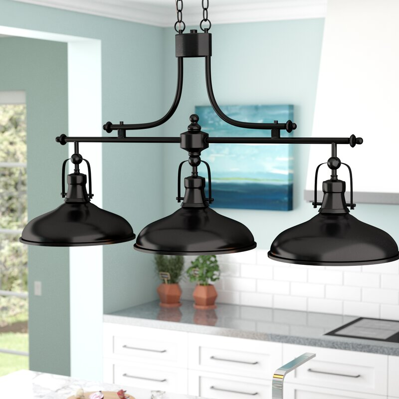 Beachcrest Home Martinique 3 Light Kitchen Island Pendant