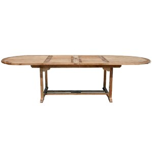 Orleans Teak Oval Double Extension Dining Table