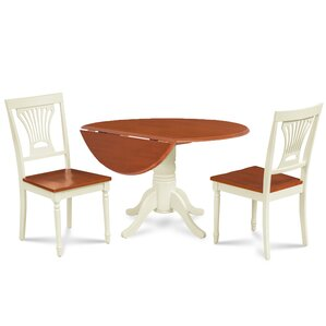 Forthill 3 Piece Dining Set by Alcott Hill