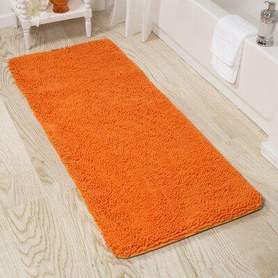 Tapis pour salle de bain couleur orange for Tapis pour salle de bain