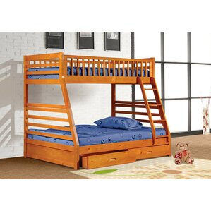 alyce twin over full bunk bed with drawers