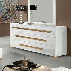 Eloisa Contemporary 3 Drawer Dresser w..
