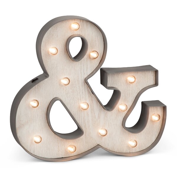 Ampersand Wall Decor the gerson companies plastic lighted ampersand sign wall décor