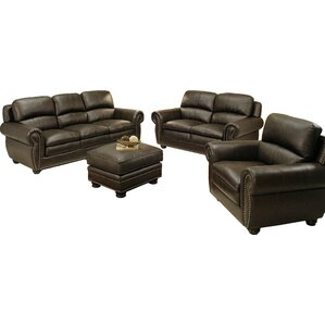 Barrera 4 Piece Leather Living Room Set by D..