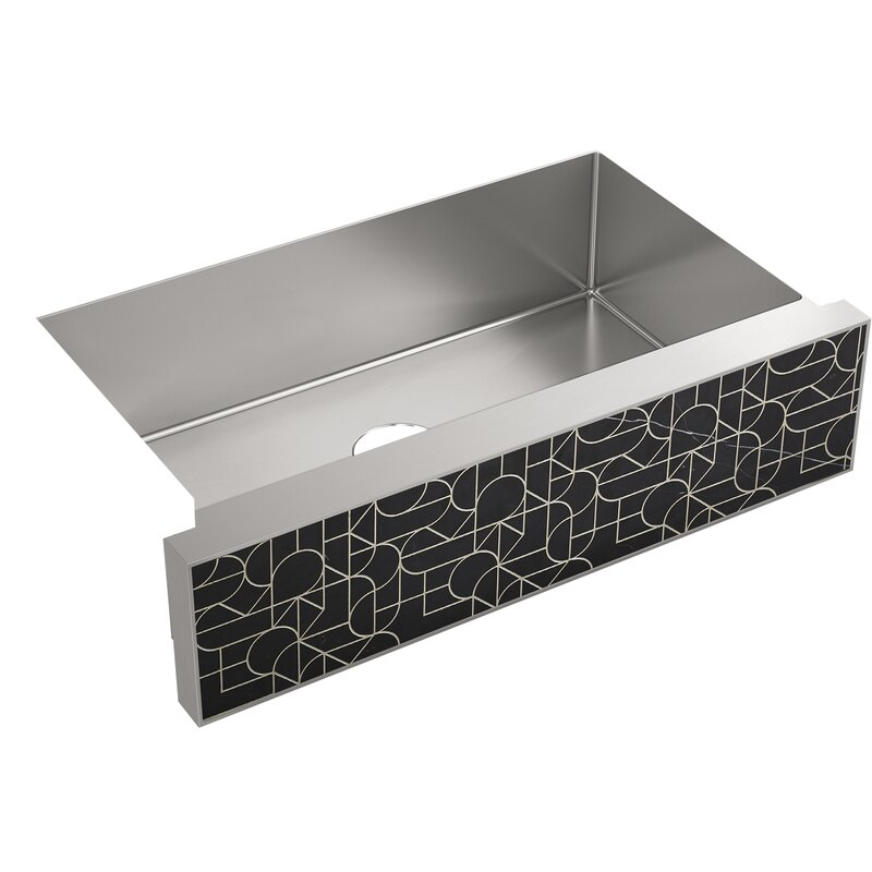 Kohler Tailor Large Single Basin Stainless Steel Sink With Etched Stone  Insert