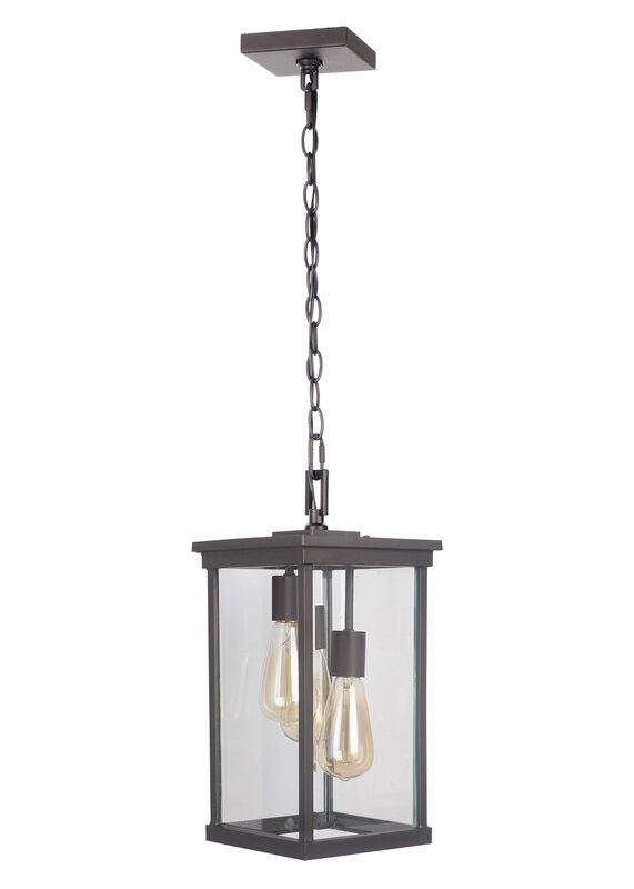 Mccombs 3 light outdoor hanging lantern reviews joss main mccombs 3 light outdoor hanging lantern mozeypictures Gallery