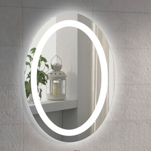 Illuminated Oval Bathroom Vanity Mirror