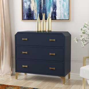Whitchurch Clip Corner 3 Drawer Accent Chest