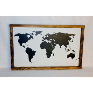 Old world map wall art wayfair world map framed textual art on wood gumiabroncs Image collections