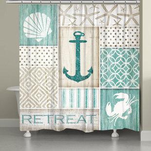Coastal Retreat Single Shower Curtain