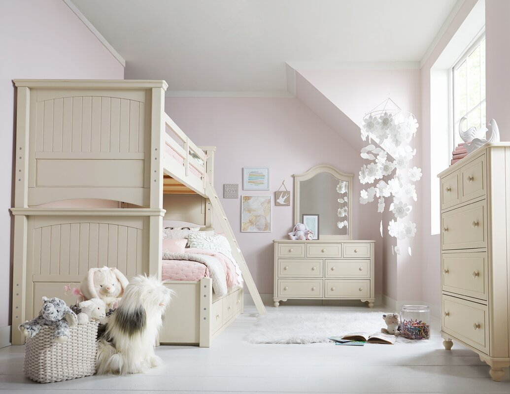 Viv + Rae Otto Twin Over Full Trundle Bunk Bed Configurable ...