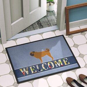 Pug Indoor/Outdoor Doormat