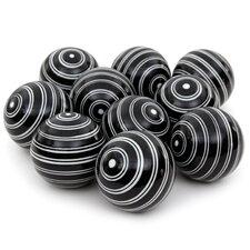 Double Stripes Decorative Ball Sculpture (Set of 10)