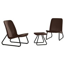 Rio All Weather 3 Piece Lounger Seating Set
