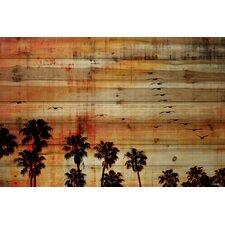 'Ocean Trails' by Parvez Taj Painting Print on Natural Pine Wood