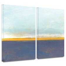 """""""Big Country Sky I"""" by Jan Weiss 2 Piece Painting Print on Wrapped Canvas Set"""