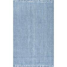 Chunky Jute Blue Area Rug