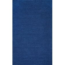 Chunky Woolen Cable Navy Area Rug