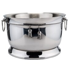 17 Qt. Stainless SteelDouble Walled Party Tub with Tie Knot