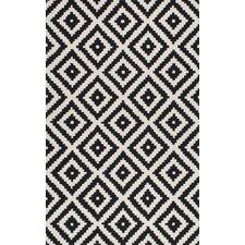 Obadiah Hand-Tufted Black/Cream Area Rug