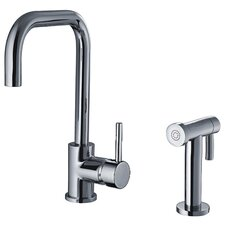 Jem Single Handle Faucet with Swivel Spout and Side Spray