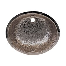 Decorative Undermount Oval Hammered Textured Basin