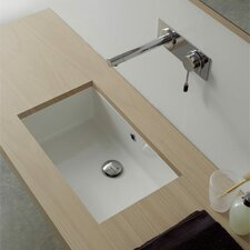 Miky Square Ceramic Undermount Sink with Overflow