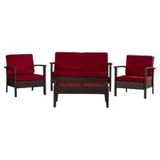 Ainaro 4 Piece Deep Seating Group Set with Cushion