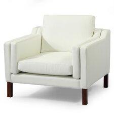Monroe Mid Century Modern Leather Guest Club Chair