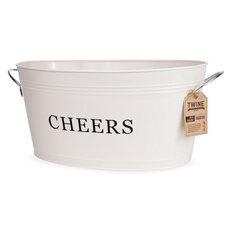 Farmhouse Galvanized Cheers Tub