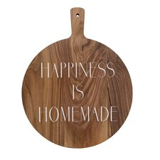 """""""Happiness Is Homemade"""" Acacia Wood Cutting Board"""