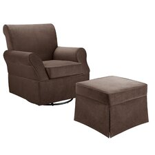 Kimberley Swivel Glider and Ottoman