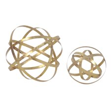 2 Piece Sphere Sculpture Set