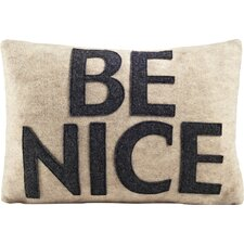 """House Rules """"Be Nice"""" Throw Pillow"""