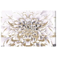 Floralia Blanc Graphic Art on Wrapped Canvas
