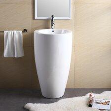 """Pedestal Series 19.69"""" Bathroom Sink"""