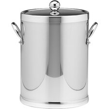 Americano 5 Qt Ice Bucket with Side Handle in Polished Chrome