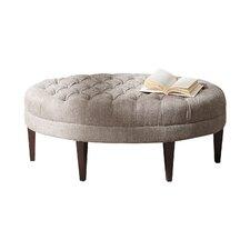 Keats Button Tufted Oval Ottoman