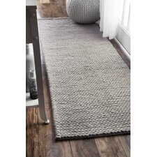 Touchstone Woolen Cable Light Gray Area Rug