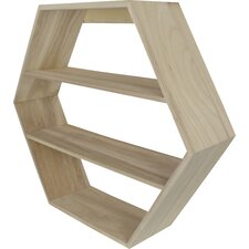 Celestine Hexagonal Wood Shelf