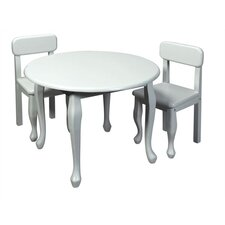 queen anne kids 3 piece table and chair set - Kid Table And Chair Set