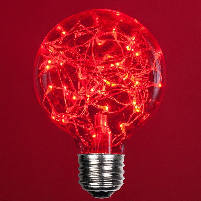 1 Watt Equivalent, G80 LED, Non-Dimmable Light Bulb E26/Medium (Standard)  Base