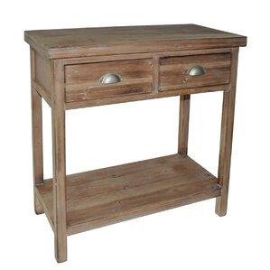 Beautiful 2 Drawer Wood Hallway Table With 1 Lower Shelf