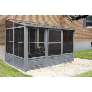 All Season Add-A-Room 16 Ft. W x 10 Ft. D Aluminum Wall-Mounted Gazebo