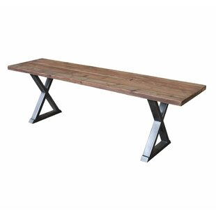 Braselton X Wood Bench