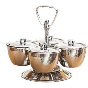 Relish 5 Piece Stainless Steel Bowl Server Set