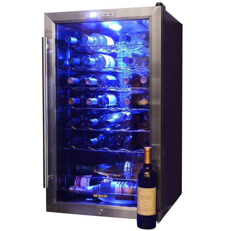 33 Bottle Single Zone Freestanding Wine Cooler
