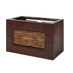 "Bamboo Bathroom Vanities xylem bambu 36"" bathroom vanity cabinet in dark bamboo & reviews"
